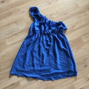 Lane Bryant blue one shoulder dress